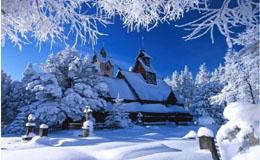 阿尔山冬天的童话森林与不冻河