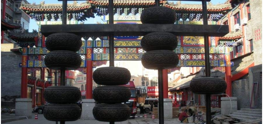 海拉尔正阳街古城小景
