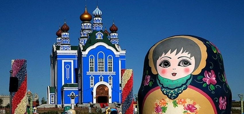 满洲里俄罗斯套娃广场图片