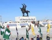 内蒙古呼伦贝尔冬季那达慕开始彩排