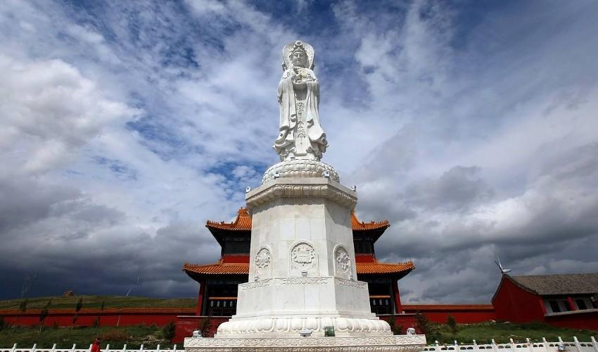 呼伦贝尔满洲里大觉禅寺景区旅游