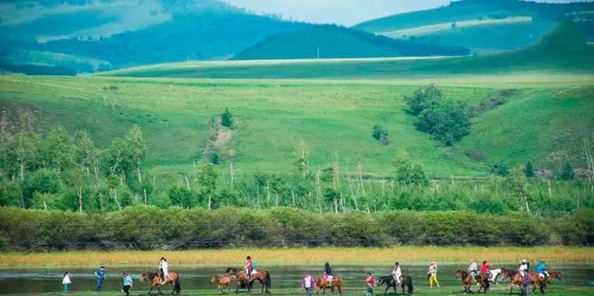 呼伦贝尔草原上俄罗斯风土民情的临江村