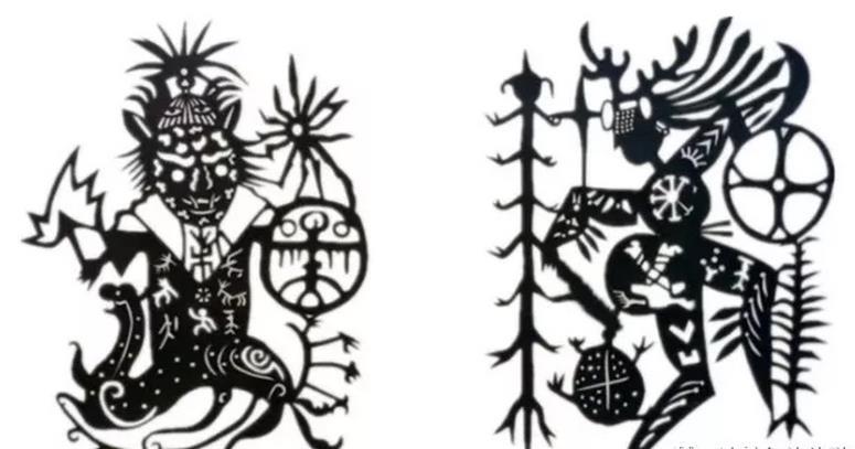 美丽的达斡尔族的剪纸艺术