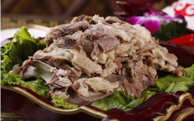 呼伦贝尔大草原手扒肉图片