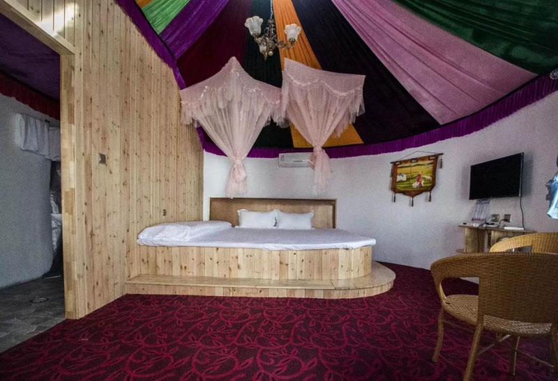 呼伦贝尔住宿蒙古包内部照片