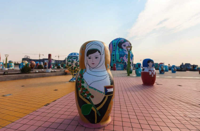 呼伦贝尔满洲里经典一日游行程套娃广场