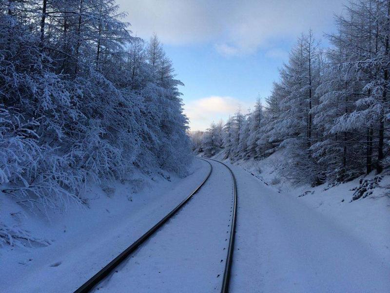 冬季呼伦贝尔海拉尔旅游美景