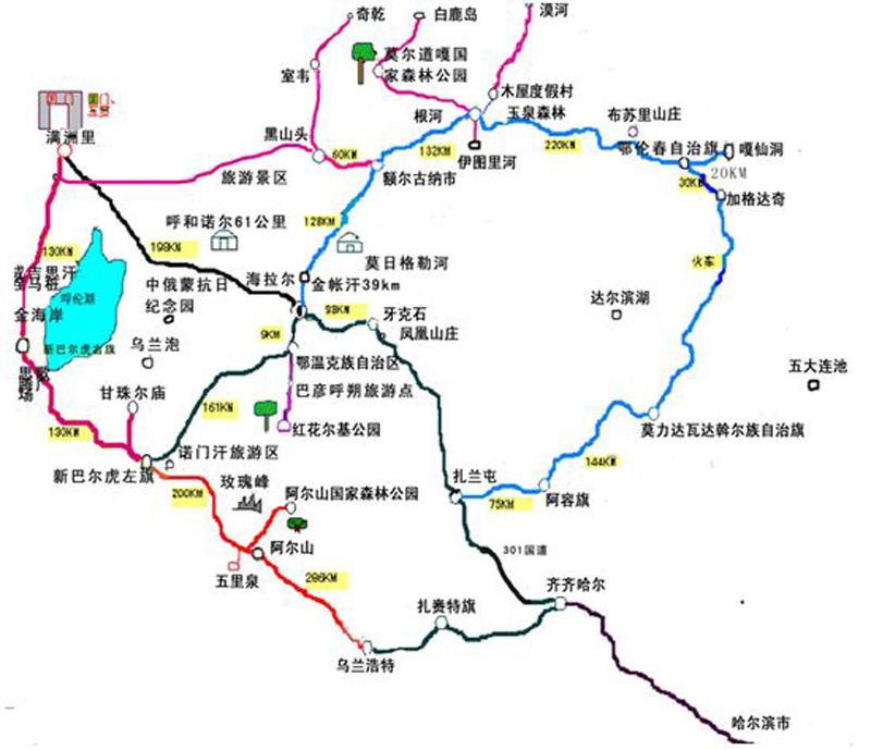 最全呼伦贝尔南北大环线11天旅游线路推荐