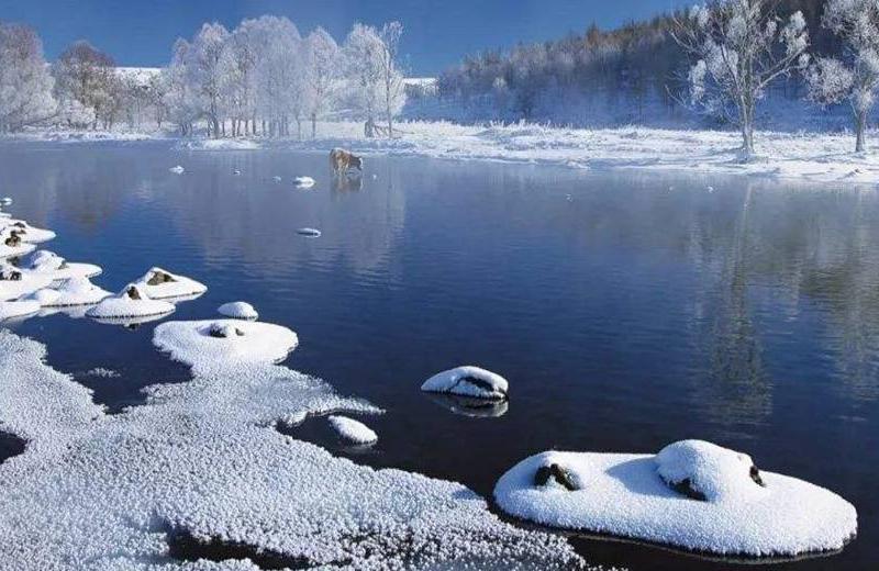 阿尔山冬季不冻河