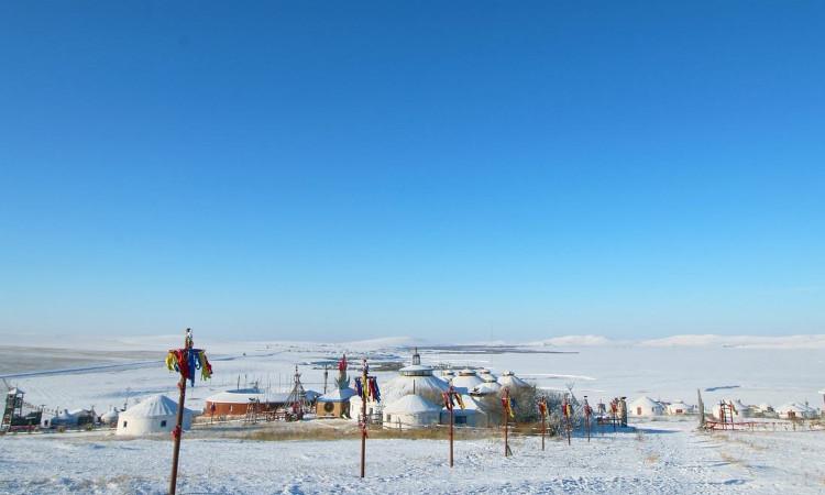 呼伦贝尔冬季草原