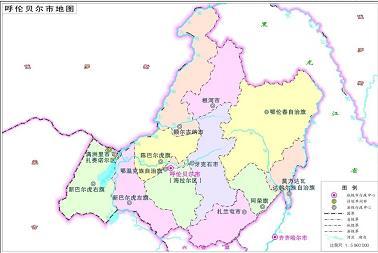 呼伦贝尔市标准地图是什么样子的?