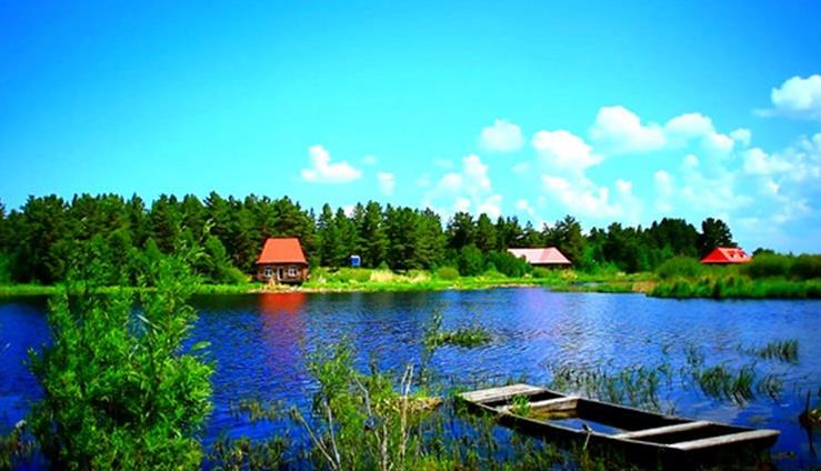 呼伦贝尔大草原上美丽的诺干湖景区